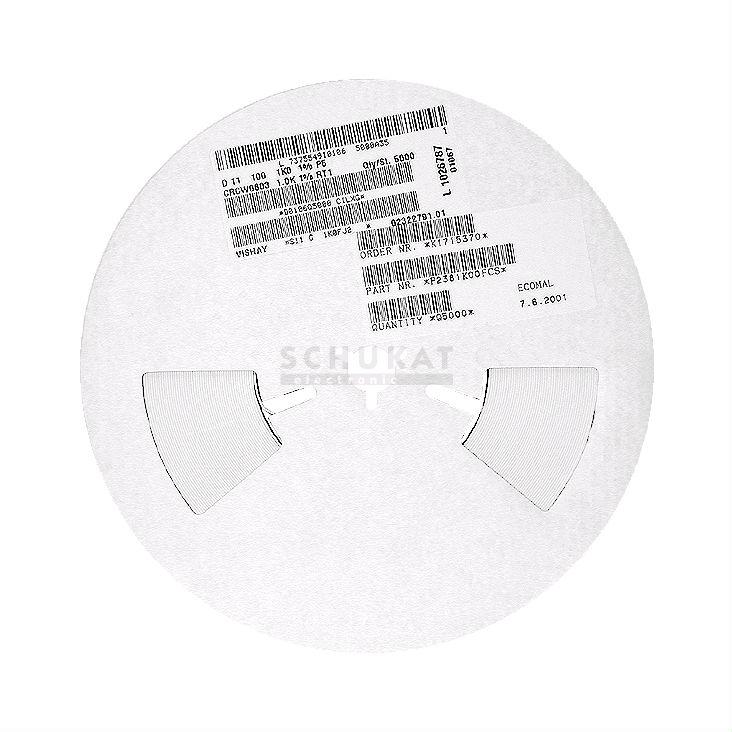 5000x SMD resistencia 25,5k 1/%; 0603 0,1w ; rc0603fr0725k5