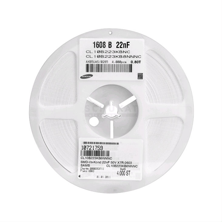 new Smd smt capacitors 0603 33pf 50v samsung 1,6x0,8mm dimensions