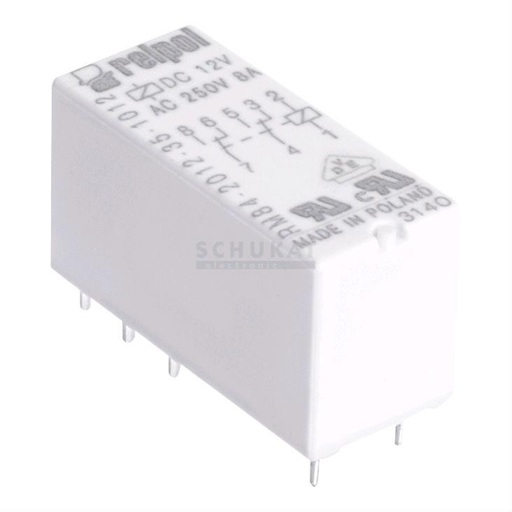 Relpol RM84-2012-35-1012 DPDT in miniatura PCB Relè 12V 8A